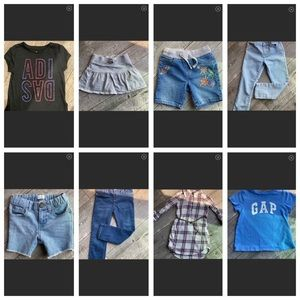 Lot of girl clothes 4T / 5T CP, Gap, Adidas, H&M